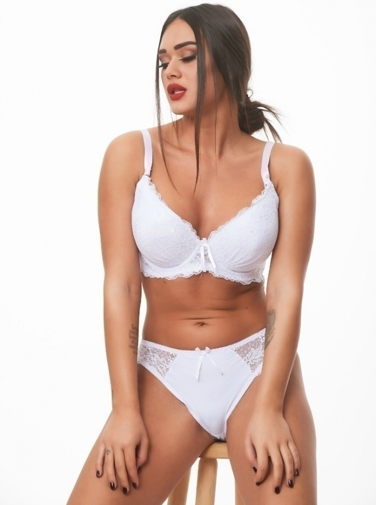 White Plus Size Set Dorin